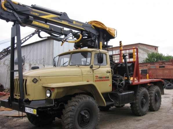 Лесовоз Урал 4320 с военного хранения с манипулятором омтл-97