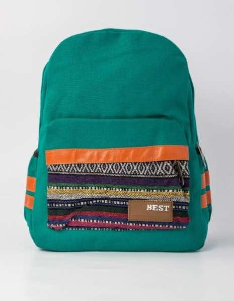 Рюкзак в этническом стиле зеленый
