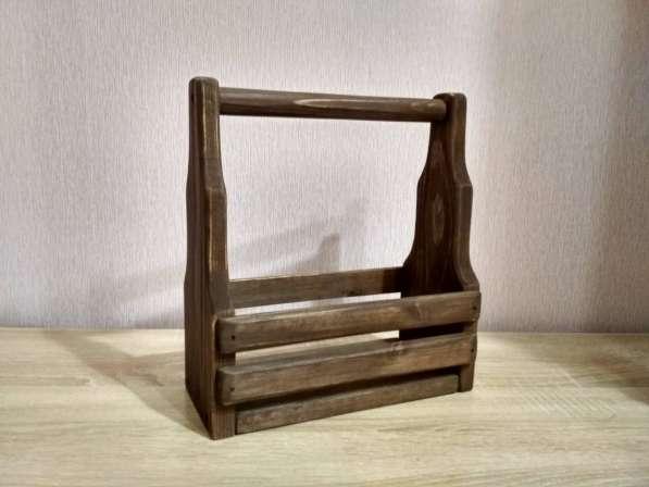 Корзинка деревянная коричневая