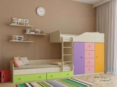 Детская двухъярусная кровать «Астра 6» РВ-мебель