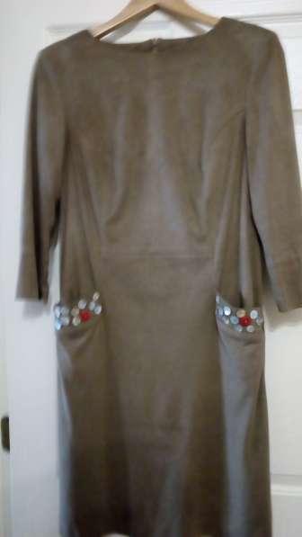 Платье под замшу 44-46