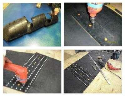 Пластины КВМ для стыковки и ремонта конв КВМ-1