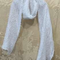 Белый шерстяной ажурный шарф, в г.Минск