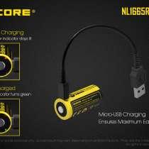 NiteCore Литий-ионный (Li-Ion) аккумулятор NiteCore NL1665R (16340) со встроенной зарядкой Micro-USB, в Москве