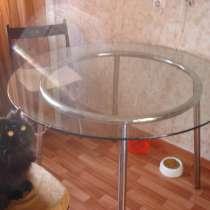 Стол обеденный круглый большой (стекло), в Санкт-Петербурге
