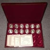 Серебряные медали с изображением Императоров России. Набор, в Москве