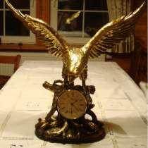 Каминные часы орел (Германия HERMEL, Новые), в Москве