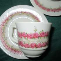 Пара антикварн.фарфоровых кофейных чашек JLMENAU(Graf von Henneber, в Краснодаре