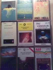 Аудиокассеты VANGELIS -9 штук, Польша, в Москве