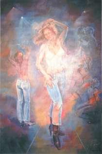 """Продаю картину: """"Диско"""", написано мною в 2002году -холст, м, в г.Алматы"""