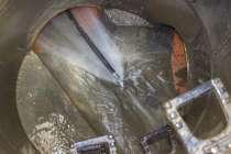 Гидродинамическая промывка канализационых труб, в Омске