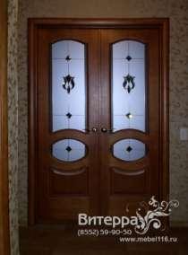 Двери с оформлением витражами, в Набережных Челнах