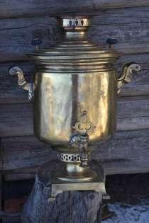 Самовар царский золотистый Медаль ЗОЛОТАЯ рабочий не течет н, в Чебоксарах