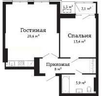 Евродвушка в ЖК Чехов, в Ростове-на-Дону