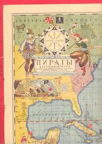 Карта настольной игры Пираты худ В.М. Голицын 1934, в Орле