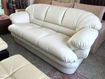 Белый кожаный диван Венеция, в Зеленограде