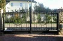 Кованые распашные ворота, в Кургане