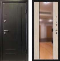 Дверь входная стальная мод. Логика с большим зеркалом, в Новосибирске