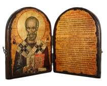 Икона-складнень Николай с молитвой, в г.Одесса