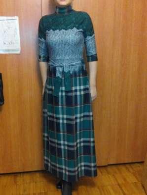 Платье шерстяное длинное