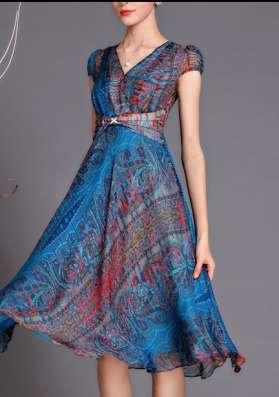 Шифоновое платье, 52 размера
