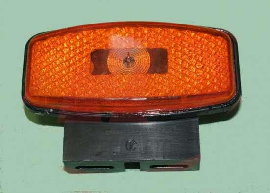 Фонарь габаритный боковой желтый светодиод с кронштейном