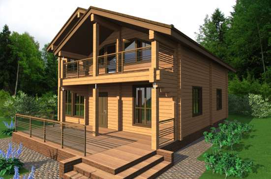 Строительство дома из бруса БАРНИ от компании МОГУТА