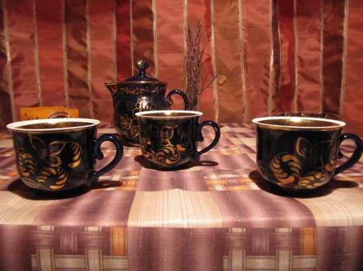 Кобальтовый чайный сервиз, Гжель (СССР) в Москве Фото 5