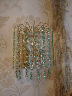 2 бра из стекла и люстра в Нижнем Тагиле Фото 1