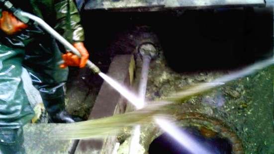 Устранение засоров, промывка канализации круглосуточно