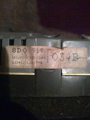 Audi A-4 1.8 20V ADR  панель приборов МКПП  8D0919034B