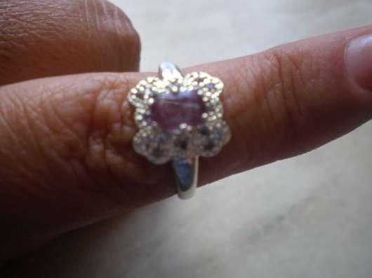 Авторское кольцо с александритом и танзанитами 18.3 размера