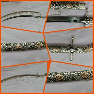 Сабля сувенирная, серебряная