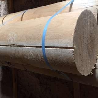 Оцилиндрованное бревно дуб ясень клен диаметр 14 длина 3м