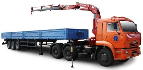 Аренда Манипулятора полуприцеп 20 тонн в Самаре