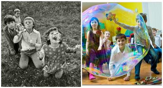 Огромные мыльные пузыри
