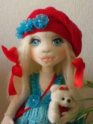 Текстильная интерьерная кукла Лизонька