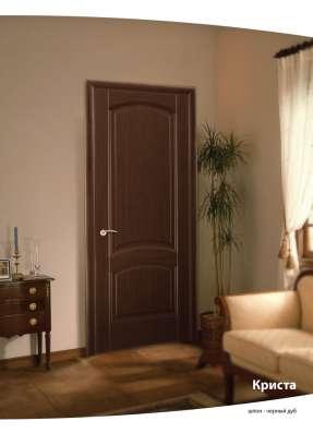 Дверь межкомнатная LUIDOOR Криста ДГ Черный дуб тонированны