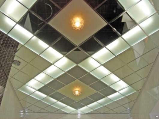 Стеклянные и зеркальные потолки в г. Караганда Фото 4