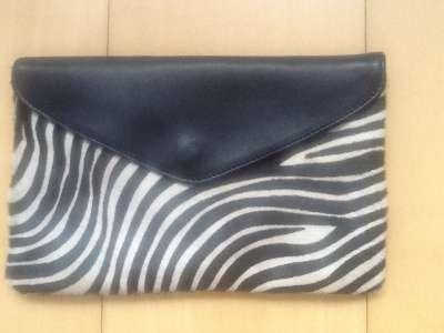 Дизайнерский кожаный клатч Carla Sade