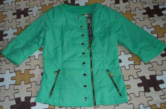 Куртка ветровка стильная на молнии 3/4 рукав р.42 в Москве Фото 1