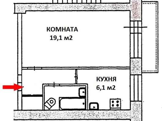 Эльмаш, 1-комн. квартира УП в кирпичном доме, 2/9 эт