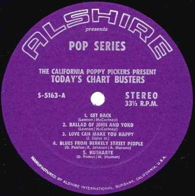 Пластинка California Poppy Pickers - Today s Chart Busters в Санкт-Петербурге Фото 2