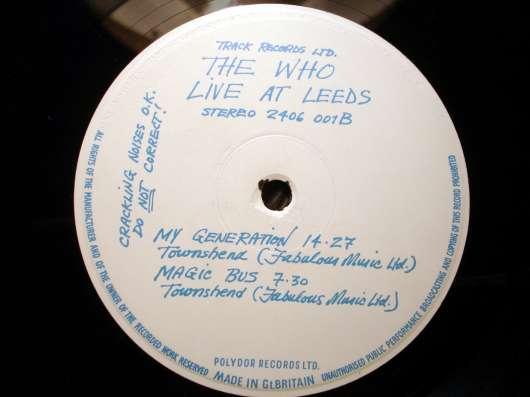 Пластинка The Who – Live At Leeds (UK) в Санкт-Петербурге Фото 2