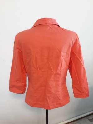 Женская рубашка цвета персик