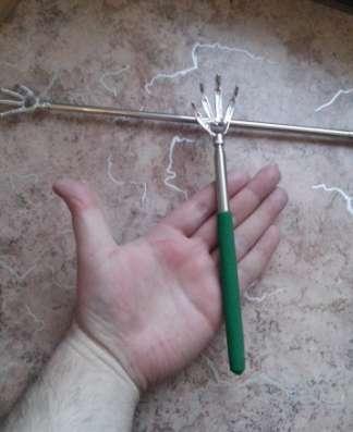 Чесалка-массажер для спины с телескопической ручкой