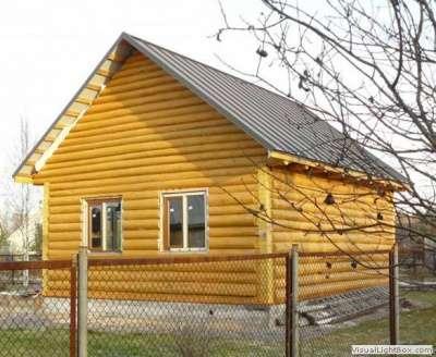 Сруб дома 6 на 8 с рубленным фронтоном.