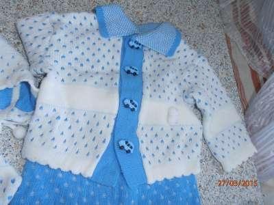 костюм на мальчика вязаный с рождения