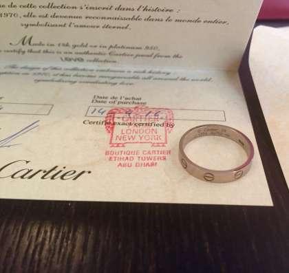 Кольцо Cartier оригинальное в Москве Фото 2