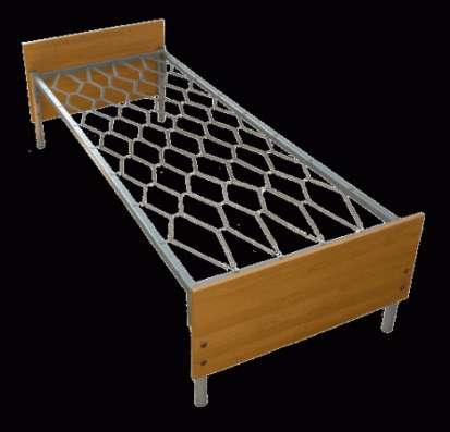 Металлические кровати с ДСП спинками для больниц оптом.